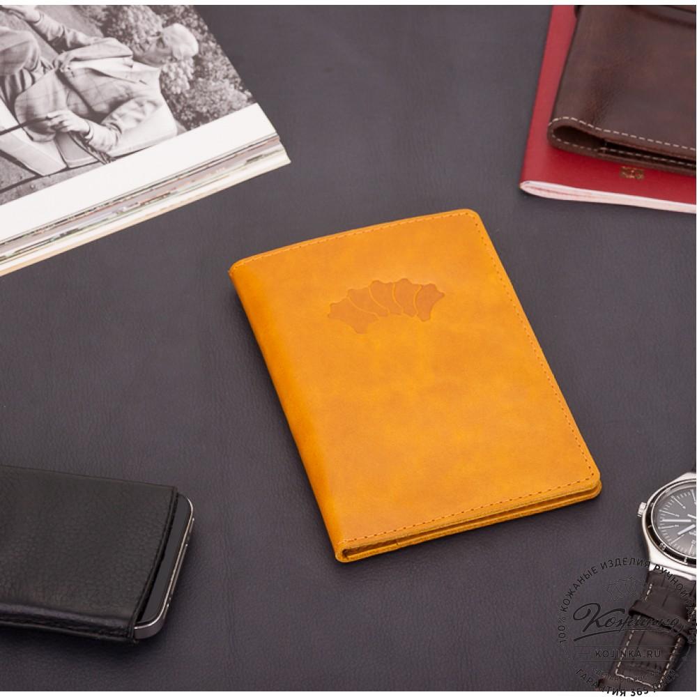 Кожаный бумажник водителя Турин (желтый)