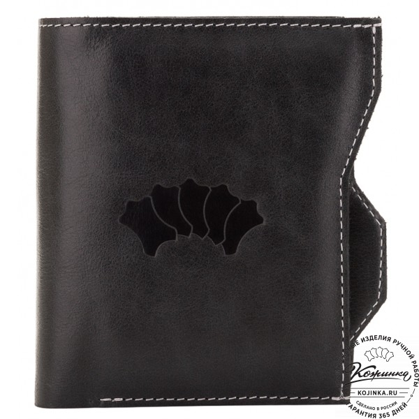 Кожаное портмоне Лондон (черное). фото 1