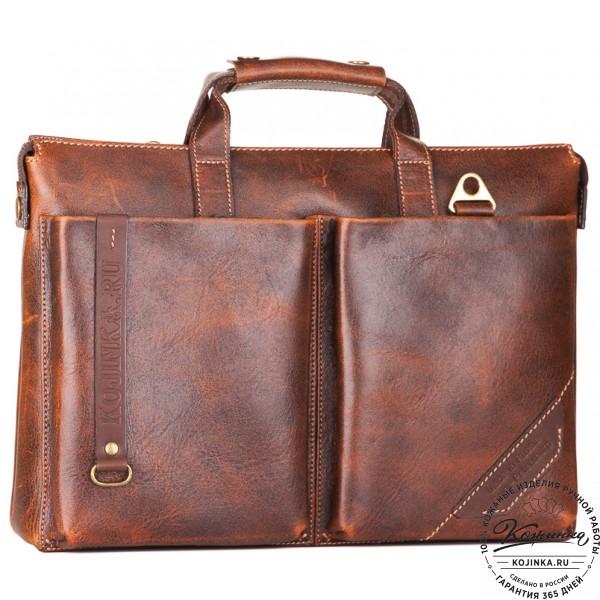 """Кожаная деловая сумка """"Стюарт"""" (эксклюзив). фото 1"""