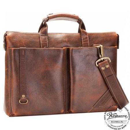 """Кожаная деловая сумка """"Стюарт"""" (эксклюзив)"""