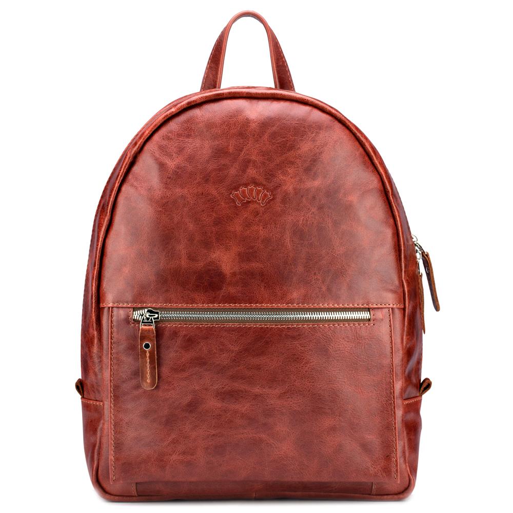 """Купить со скидкой Кожаный рюкзак """"Джессика"""" (рыжий антик)"""