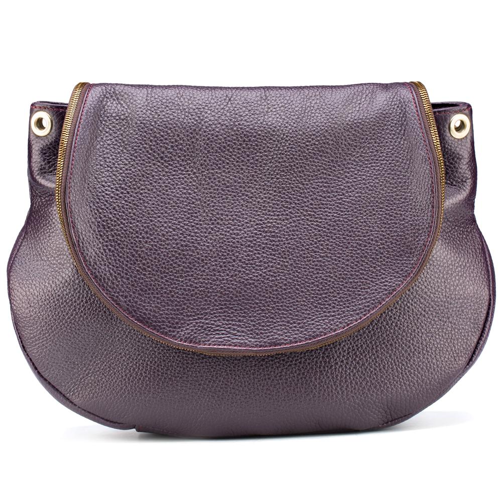 155d5d3af9f1 Купить Женская кожаная сумка Шерон (баклажановая),  Кожевенно-производственное предприятие «СаШе»