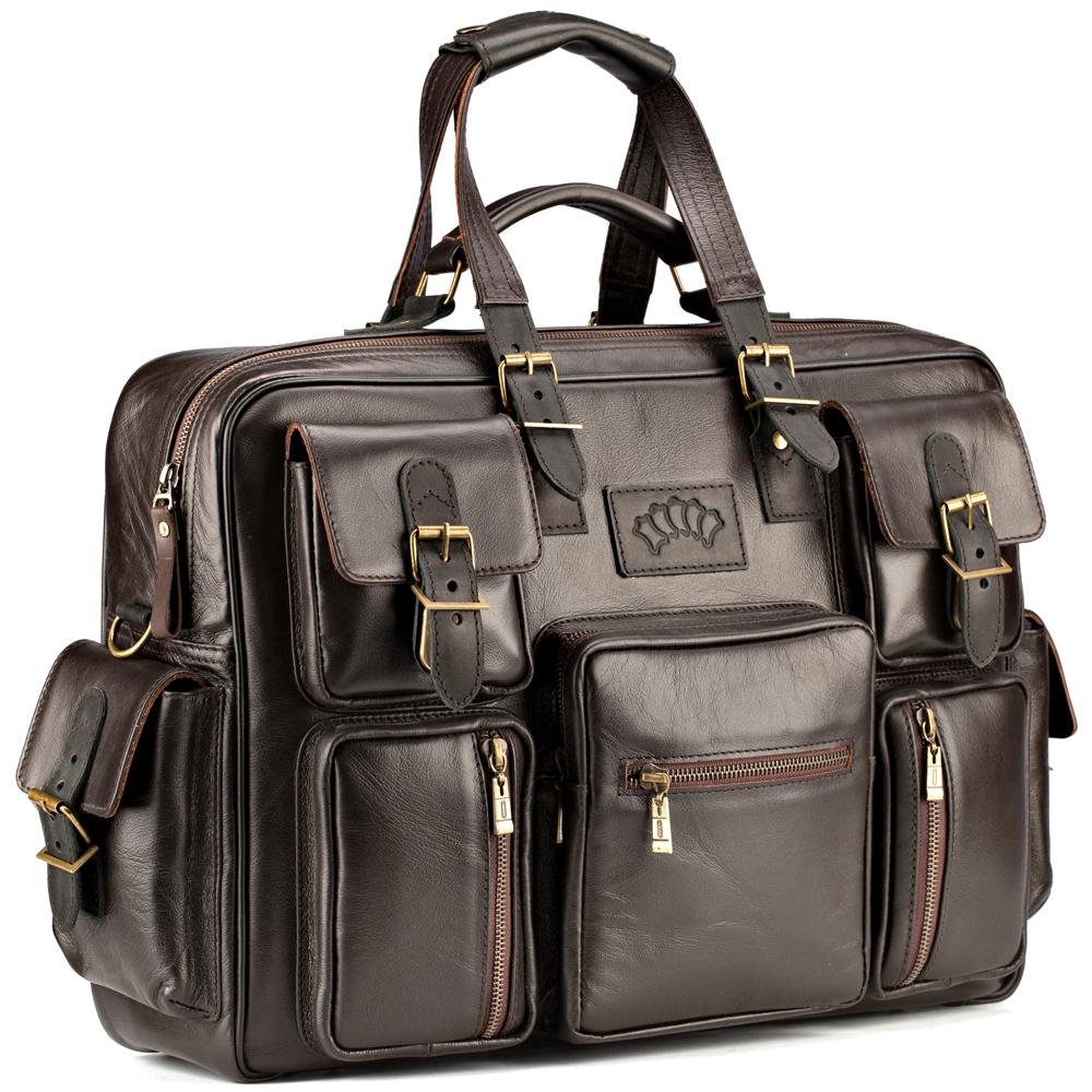 """Купить со скидкой Кожаная деловая сумка для командировок """"Ричард"""" (коричневый)"""