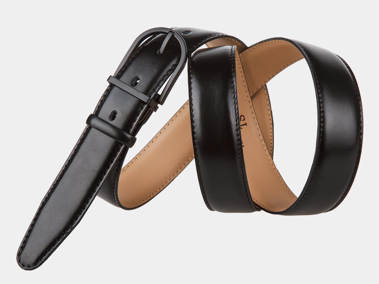 Кожаный ремень AT30-2 (чёрный)