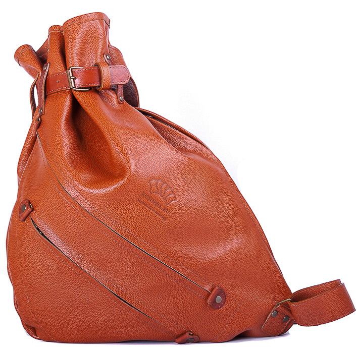 """Купить со скидкой Кожаный рюкзак """"Селена"""" (рыжий)"""