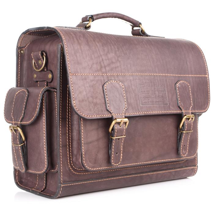 """Купить со скидкой Кожаный портфель """"Вояджер"""" (коричневый)"""