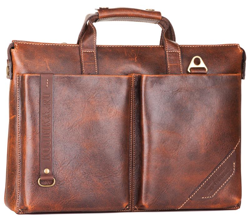 """Купить со скидкой Кожаная деловая сумка """"Стюарт"""" (эксклюзив)"""